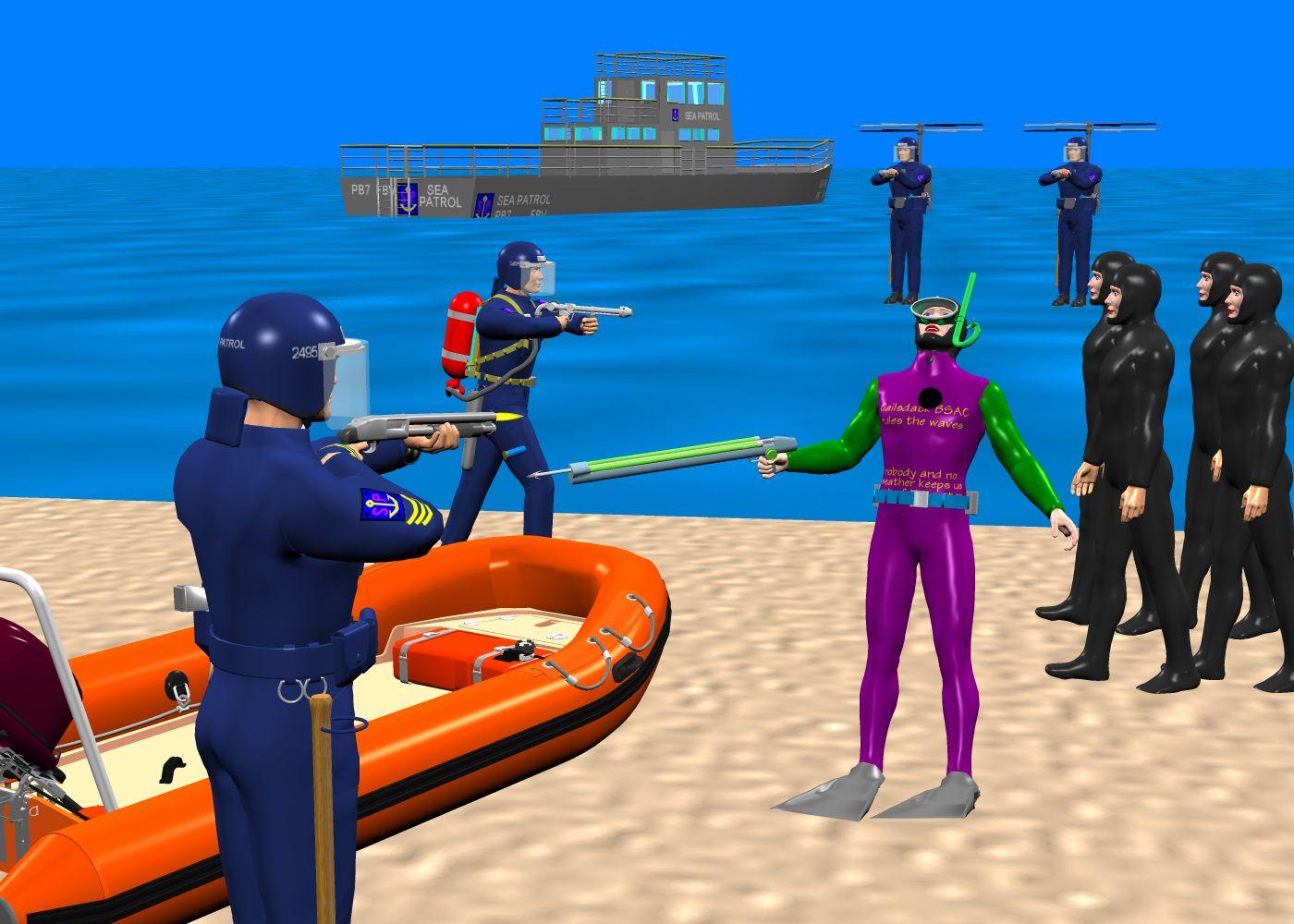 Sea Patrol: actions against uncontrolled sport scuba divers